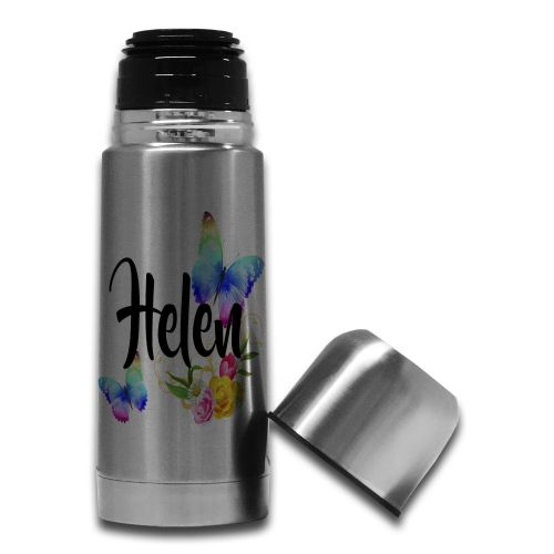 350ml Personalised Beautiful Butterflies & Flowers Novelty Gift Steel Thermos Flask Bottle